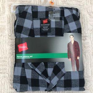 Hanes flannel pajama set Medium NWT